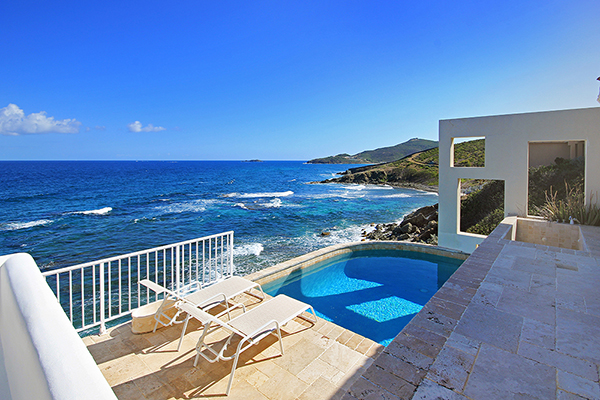 Spectacular view from the terrace and pool